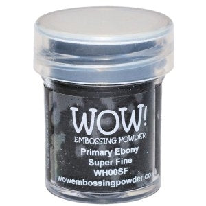 PRIME EBONY SUPER FINE -WOW! EMBOSSING powder