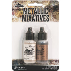 Tim Holtz Alcohol Ink Set COPPER PEARL Metallic Mixatives Ranger