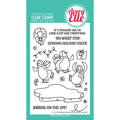 Brring On The Joy Clear Stamps  - Avery Elle