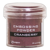 Ranger Empossing Powder- CRANBERRY METALLIC