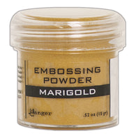 Ranger Empossing Powder- MARIGOLD METALLIC