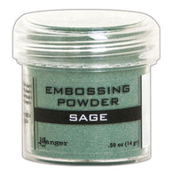 Ranger Empossing Powder- SAGE METALLIC