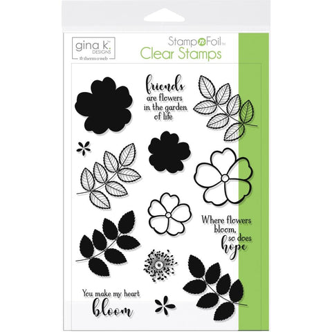 Therm O Web Gina K Designs WHERE FLOWERS BLOOM Clear Stamp Set