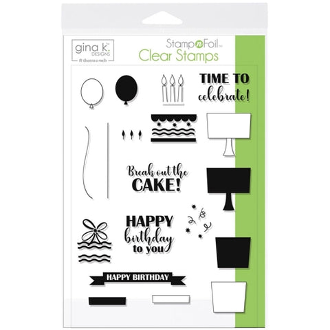 Therm O Web Gina K Designs TIME TO CELEBRATE Clear Stamp Set