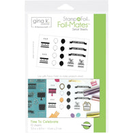 Therm O Web Gina K Designs time to celebrate Foil-Mates Detail Sheets