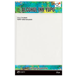Tim Holtz 5 X 7 heavyweight WHITE ALCOHOL INK YUPO PAPER Ranger tac63339