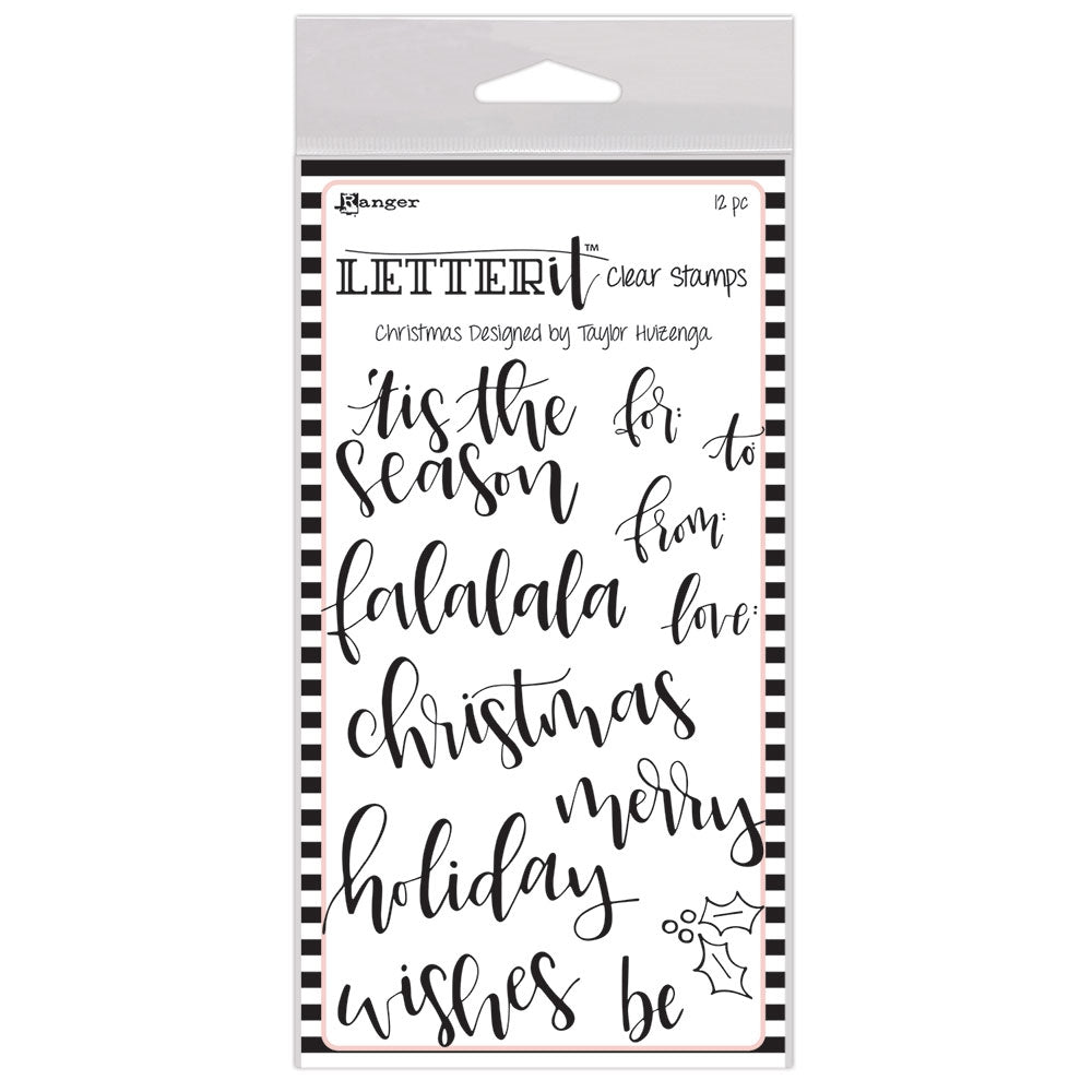 Ranger CHRISTMAS Letter It Stamp Set lec63087