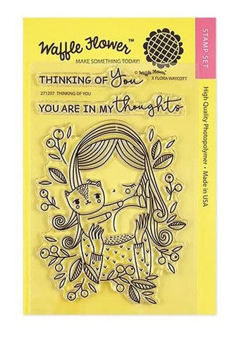Waffle Flower THINKING OF YOU Clear Stamps