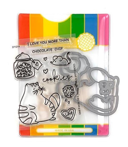Waffle Flower COOKIE LOVE Clear Stamp and Die Set WFC214