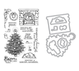 Hero Arts FROM THE VAULT HOME SCENE Clear Stamp and Die Combo SB239