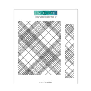 Concord & 9th WOVEN PLAID BACKGROUND Clear Stamp Set 10680