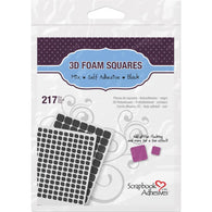 Scrapbook Adhesives 3D 217 BLACK FOAM Squares Adhesive 01615