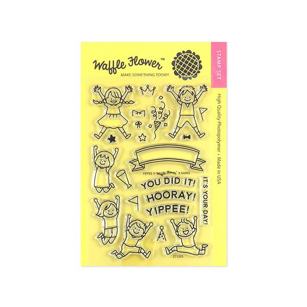 Waffle Flower - Yippee Stamp Set -CLEAR STAMPS 4X6