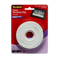 Scotch® Foam Mounting Tape, 1/2 in. x 150 in., White, 1 Roll/Pack