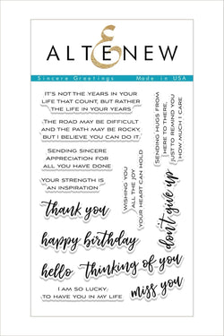 Sincere Greetings Stamp Set - ALTENEW