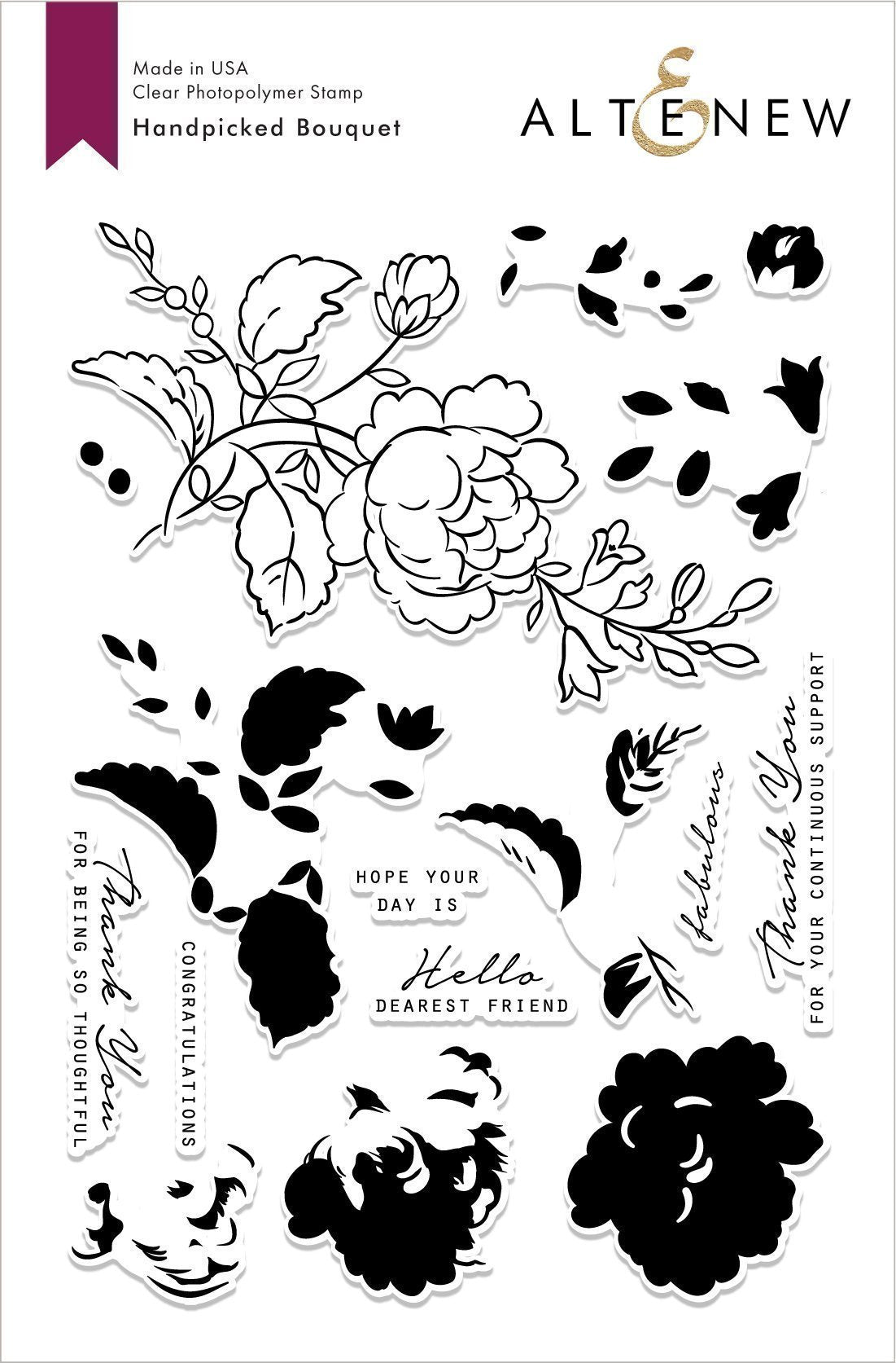Handpicked Bouquet Stamp Set - Altenew