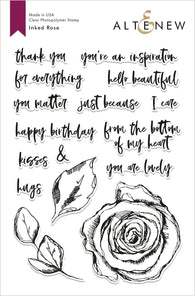 Inked Rose Stamp Set - Altenew