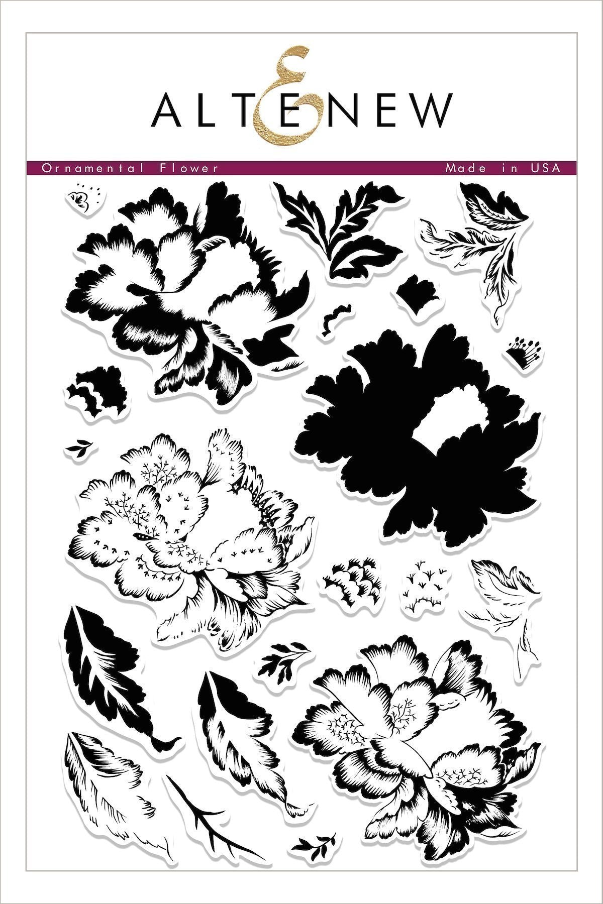 Ornamental Flower Stamp Set - Altenew