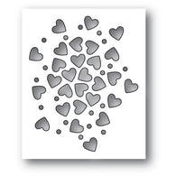 MEMORY BOX DIE - 94112 Heart Sprinkles craft die