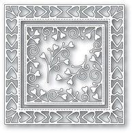 MEMORY BOX DIE - 94118 Heart Border Frame craft die