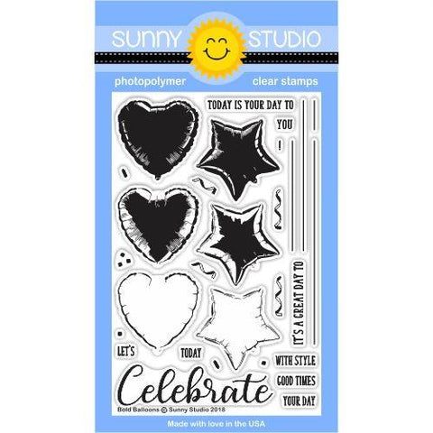 Bold Balloons Stamps- Sunny Studio Stamps