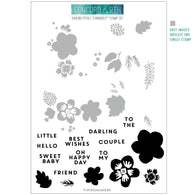 Concord & 9th Darling Petals Turnabout Stamps