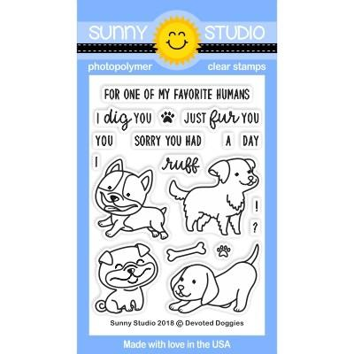 Devoted Doggies Stamps- Sunny Studio Stamps