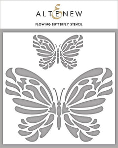 Flowing Butterfly Stencil - ALTENEW