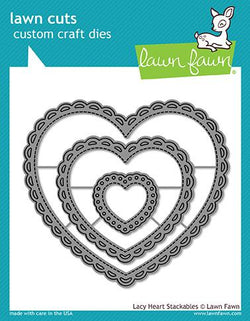 lacy heart stackables - Lawn Fawn Dies