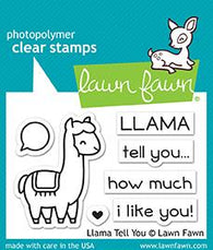 llama tell you Lawn Fawn