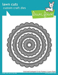 stitched scalloped circle frames - stitched scalloped circle frames - Lawn Fawn