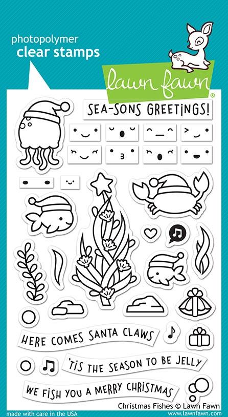 lawn fawn christmas fishes Stamps