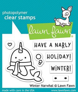 lawn fawn winter narwhal Stamps