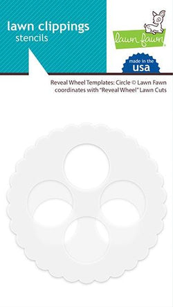 lawn fawn reveal wheel templates: circle Stencils