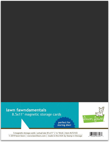 "lawn fawn magnetic storage cards - 8.5"" x 11"""