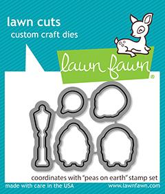 Peas On Earth - Lawn Cuts Lawn Fawn Dies