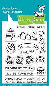 Car Critters Christmas Add-On Lawn Fawn Stamps