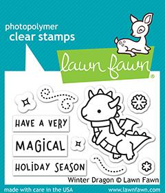 Winter Dragon Lawn Fawn Stamps