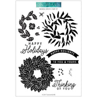 Magnolia Wreath Stamps - Concord & 9th
