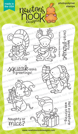 Naughty or Mice Stamp Set Newton's Nook Designs