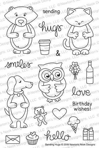 Sending Hugs Stamps Set  - Newton's Nook Designs