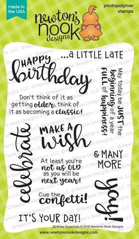 Birthday Essentials  - Newton Nook Designs