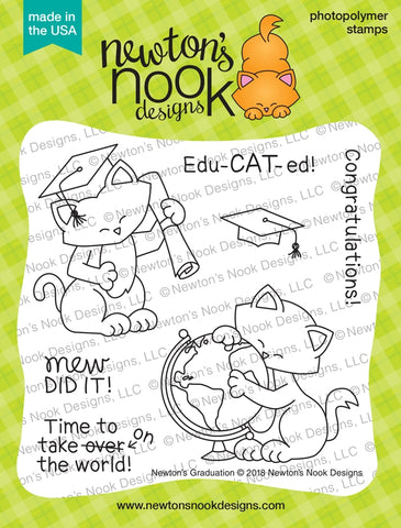 Newton's Graduation - Newton Nook Designs Stamps Set