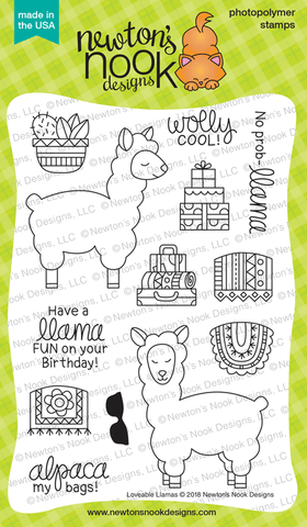 Loveable Llamas Stamp Set Newton's Nook Designs