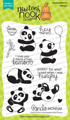 Playful Pandas Stamp Set Newton's Nook Designs
