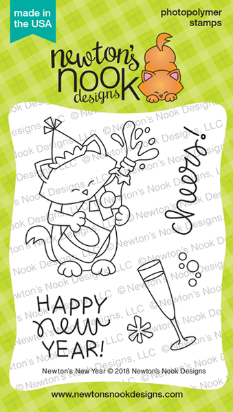 Newton's New Year Stamps - Newton's Nook Designs