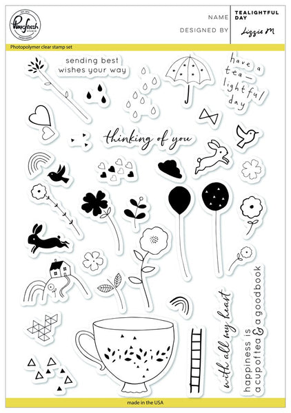 Tealightful day Stamps Set - Pinkfresh Studio