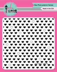 Polka Hearts - Pink and Main stamps