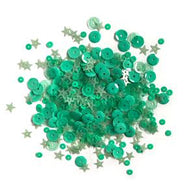 Lilac Lane Sequins - Mint - PS739