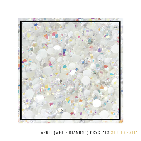APRIL (White Diamond) | Birthstones Crystals STUDIO KATIA